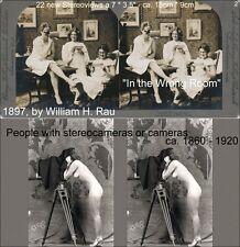 22 Stereofotos Menschen mit Stereoskopen oder Stereokameras  Lot 2