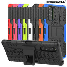 For Sony Xperia 5 Case Rugged Armor Dual-Layer Shockproof Kickstand Phone Cover