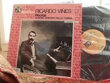 ALBENIZ DEBUSSY FALLA TURINA... Ricardo Vines piano recital / EMI References LP