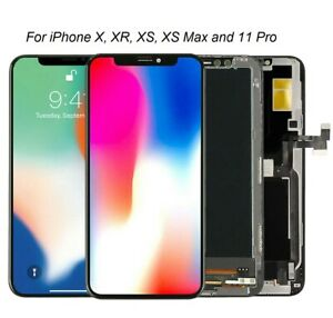 iPhone X XR XS XS Max 11 Pro OLED Soft OLED Touch Screen LCD Screen Assembly New