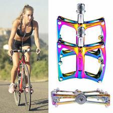 Metal Bicycle Pedals Cycling 9/16'' Bike Pedals Sealed Bearing Flat Platform