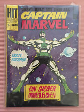7.0 FN/VF VERY FINE CAPTAIN MARVEL # 1 GERMAN EURO VARIANT CP YOP 1969