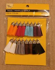 Bead Landing 0.9 Inch Tassels With Silver Tops, 8 Colors, 16 pcs