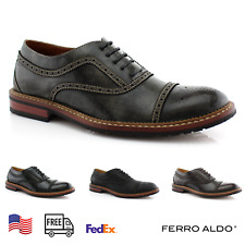 Men's Casual  Oxford Dress Shoes Wingtip US size 6.5-13 Full Brogue Multi Color