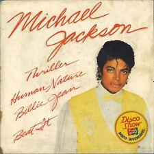 """#17 Michael Jackson Thriller, Billie Jean, Beat it (7"""" Brésil 4 titres - 1983)"""