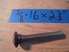 Steel Carriage Bolt 3/8-16 x 2-1/2, (30) Bolts for $16.25!