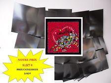 PROMO - POCHETTES HAWID fond noir par 50 - 40 x 40 - simple soudure  NEUF