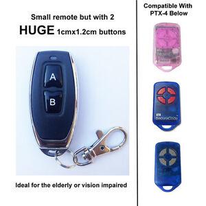 Large Button Garage Door Remote Control Compatible with ATA GDO-2v7 & GDO-7v1