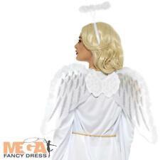 Angel Wings & Halo Adult Fancy Dress Gabriel Holy Christmas Nativity Costume Set
