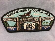 "Boy Scouts-   Susquehanna Council - 2016 FOS ""On My Honor"" csp"