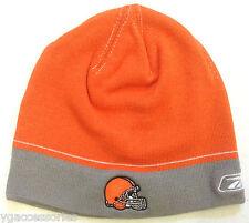 NFL Cleveland Browns Reebok Cuffless Winter Knit Cap Hat Beanie NEW!
