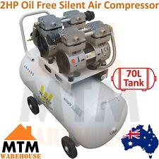 WONDER 2HP 1600W Silent Oil Free Quiet Portable Air Compressor 290L/min 70LTank