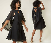 🖤 ModCloth Icing on the Cape Elegant Cutout Little Black Dress Chiffon S - $99!