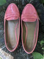 Zara Flat Loafers Coral Size 36 UK 3/3.5 ?