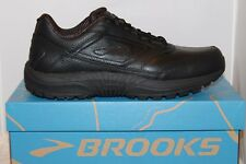 Mens Brooks DYAD Walker Slip Resistant Walking Work Shoes Black MED or WIDE NIB