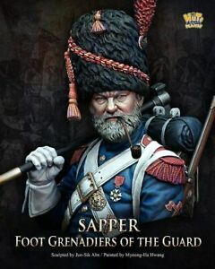 Nutsplanet Sapper French Foot Guard Grenadiers Unpainted bust 1/10th scale kit