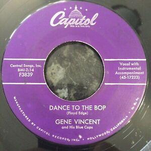 HEAR ROCKABILLY - GENE VINCENT - DANCE TO THE BOP / I GOT IT - US CAPITOL 45