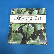 Vintage Birkengrun Seife Birch Soap Made In Germany 4.2Oz. Soap Bar NEW