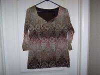 Liz Claiborne AXCESS size large L LG blouse top shirt PRETTY!