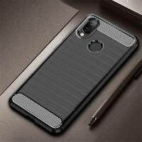 For Xiaomi Redmi 7 Note 7 6 5 Pro Carbon Fiber Silicone Soft TPU Back Case Cover