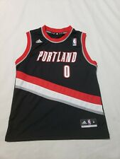Adidas NBA Authentics Damian Lillard #0 Portland Trail Blazers Jersey Boys M