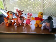 Winnie the Pooh and friends beanie soft toys