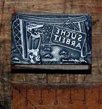 SUCHE ARBEIT Druckstock Klischee Druckplatte Blei-Druckstock Druck Druckerei