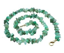 Crisoprasa Verde Cadena de Minerales con Cierre Mosquetón Gema Piedra Curativa
