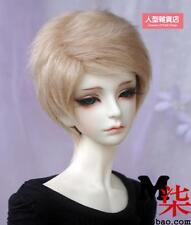 BJD doll wig 6 -7nch 16-17cm 1/6 BJD DOLL MSD Fur Wig Dollfie khaki