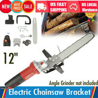 Pro 12 '' Chainsaw Bracket Grinder Into Chain Saw Woodworking Cutting Tools US