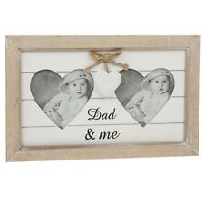 Double Heart Wooden Photo Frame - Dad & Me - Father's Day