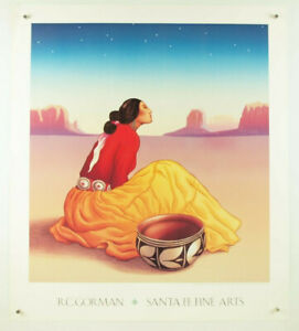 "RC Gorman Poster /""Tonto Bowl/"" 19 X 24 Companion For Woman From Window Rock"