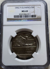 1992 P Olympic Gymnastics Half Dollar Commemorative 50C NGC MS 69
