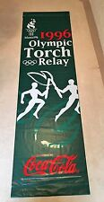 Vintage 1996 Coca Cola Coke Atlanta Olympics Torch Relay Banner Sign #2 Classic