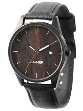 laimer Reloj Gabriele WOODWATCH Sándalo Reloj de madera lm0077 ANALÓGICO CUERO
