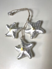 Pottery Barn Glass Starfish Cluster Ornament - new with tag