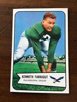 1954 BOWMAN ROOKIE FOOTBALL card ~~ # 87 KENNETH FARRAGUT ~ PHILADELPHIA EAGLES