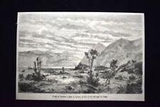 Forte di Fuentes o pian di Spagna, Colico, Lago di Como Incisione del 1867