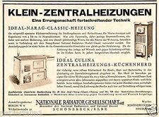 Zentralheizung Nationale Radiator Schönbeck Reklame 1930 Gesellschaft Ofen Herd
