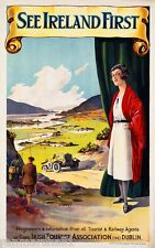 See Ireland First Dublin Irish Travel Advertisement Poster Picture Print
