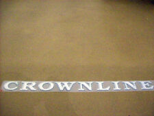 NEW OEM CROWNLINE BOAT SILVER RAISED POLYMER STICK ON NAMEPLATE 60824
