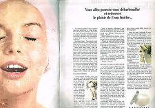 Publicite 1969 lancome cosmetics (2 pages) creme ablutia