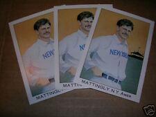(3) 1989 Franklin Caramel #4 DON MATTINGLY - Yankees