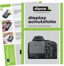 6x Nikon D3500 Schutzfolie matt Displayschutzfolie Folie Display Schutz dipos