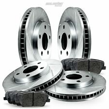 Full Kit Slotted Brake Rotors Disc and Ceramic Pads For Escalade,Sierra 1500