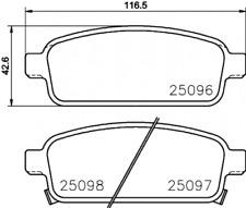 Textar Bremsbelagsatz passend für Opel Astra J/GTC/Zafira Tourer - Nr. 2509606
