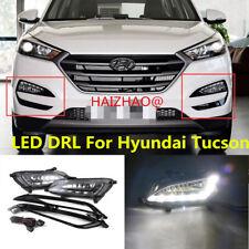 2pcs LED DRL Daytime Running Light Fog Driving Lamp For Hyundai Tucson 2016-2017