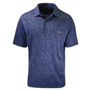Greg Norman Men's Navy Dots S/S Polo Shirt
