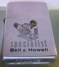 Vintage 1961 RARE BELL & HOWELL movie projector Zippo Lighter Pat 2517191 (#2)