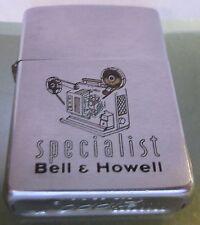 Vintage 1961 RARE BELL & HOWELL movie projector Zippo Lighter Pat 2517191 (#2)